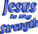 Jesus is My Strength Dark Blue Tint