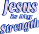 Jesus is My Strength Purple Tint