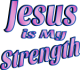 Jesus is My Strength Rose Tint