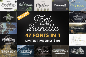 Font Bundle 47 In 1