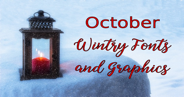 October Wintry Fonts and Graphics